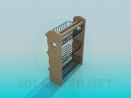3d model Kitchen hanging shelf - preview