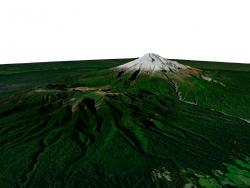 Mount Taranaki 3D model, New Zealand / 3D model of Mount Taranaki, New Zealand