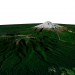 3d Mount Taranaki 3D model, New Zealand / 3D model of Mount Taranaki, New Zealand model buy - render