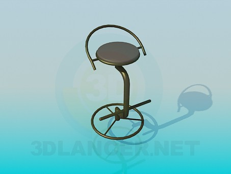 descarga gratuita de 3D modelado modelo Silla de bar