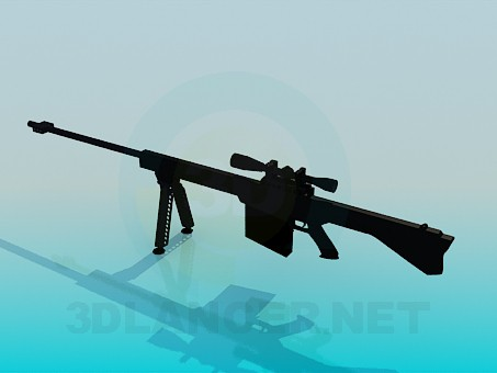 3d model Rifle with a sight - preview