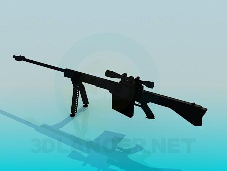 3d модель Гвинтівка з прицілом – превью