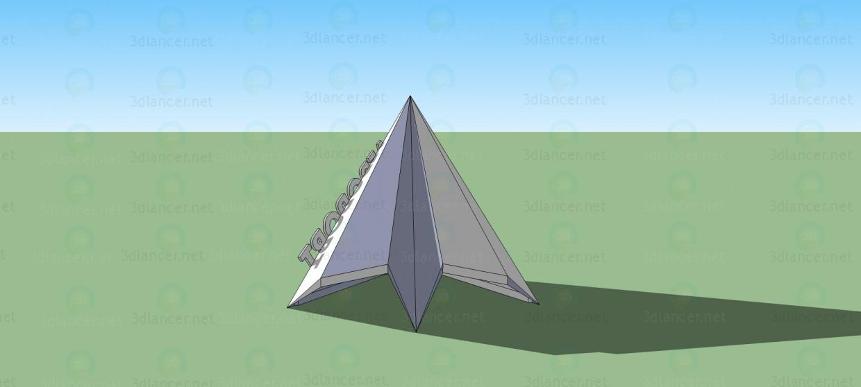 modelo 3D La señal de entrada en el aeropuerto 4 - escuchar