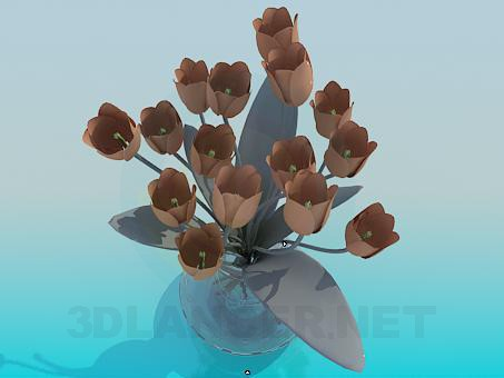 3d model Tulips in a Vase - preview