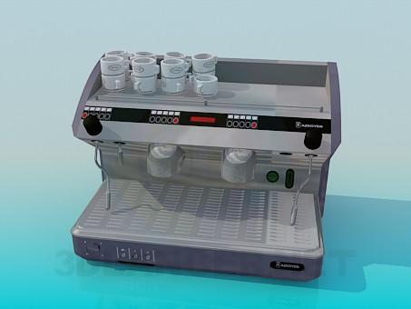 3d модель Кофеварка для кафе – превью