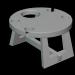 3d Wooden wine table model buy - render