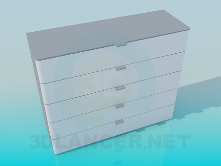 3d modeling The chest of drawers model free download