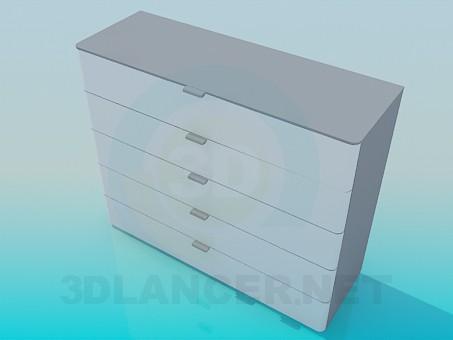 3d модель Комод на 5 висувних ящиків – превью