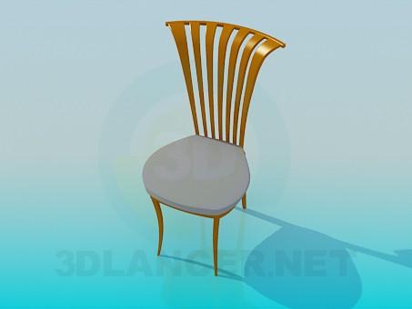 modelo 3D Silla con cabecero curvado - escuchar