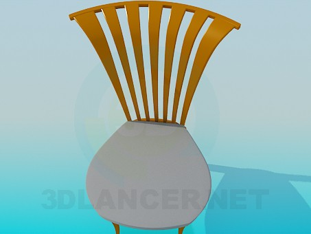 3d model Chair with curved headboard - preview