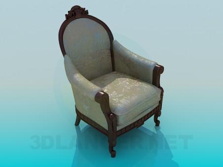 3d modeling Armchair antique model free download