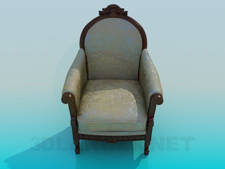 3d model Armchair antique - preview