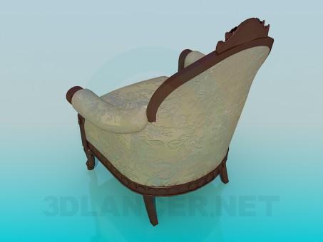 modelo 3D Sillón antiguo - escuchar