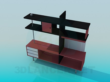 3d modeling Rack panel in high-tech style model free download