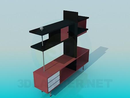 3d модель Стеллаж в стиле хай-тек – превью