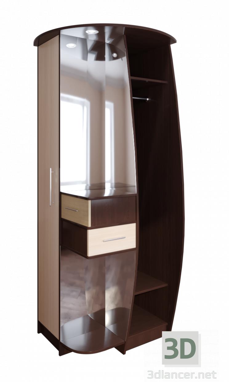 3d Corner hall model buy - render