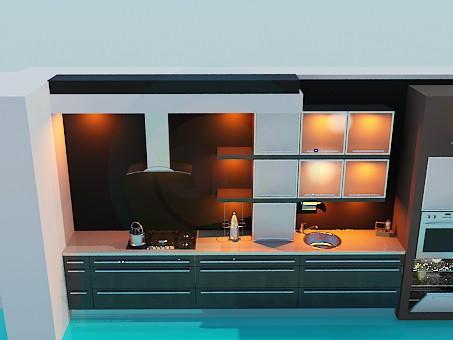 3d model Cocina moderna - vista previa