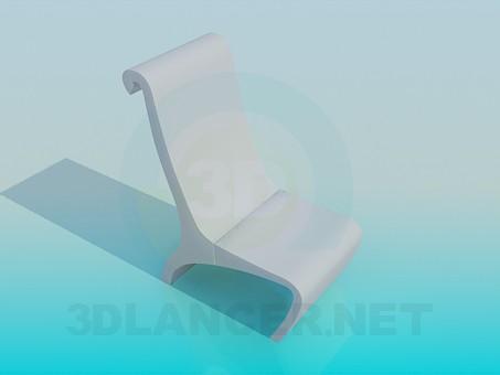 modelo 3D Taburete bajo - escuchar