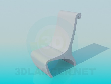 3d model Low stool - preview