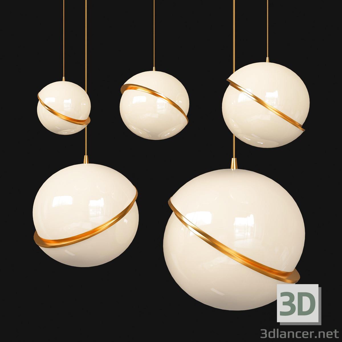 3d CRESCENT Pendant Light model buy - render