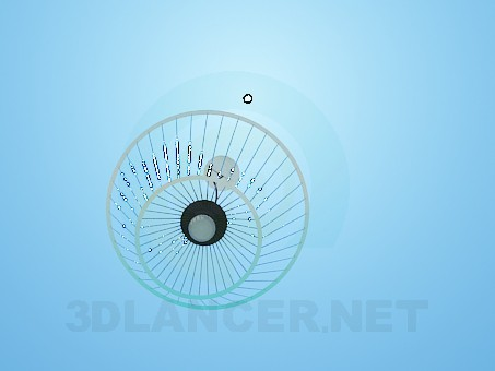 modelo 3D Lámpara con pantalla invertida - escuchar