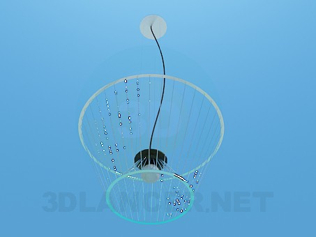 3d model Chandelier with inverted lampshade - preview