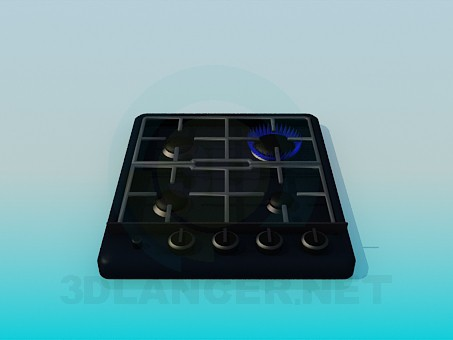 3d model Gas cooker - preview