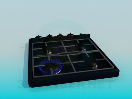 3d модель Газова плита – превью