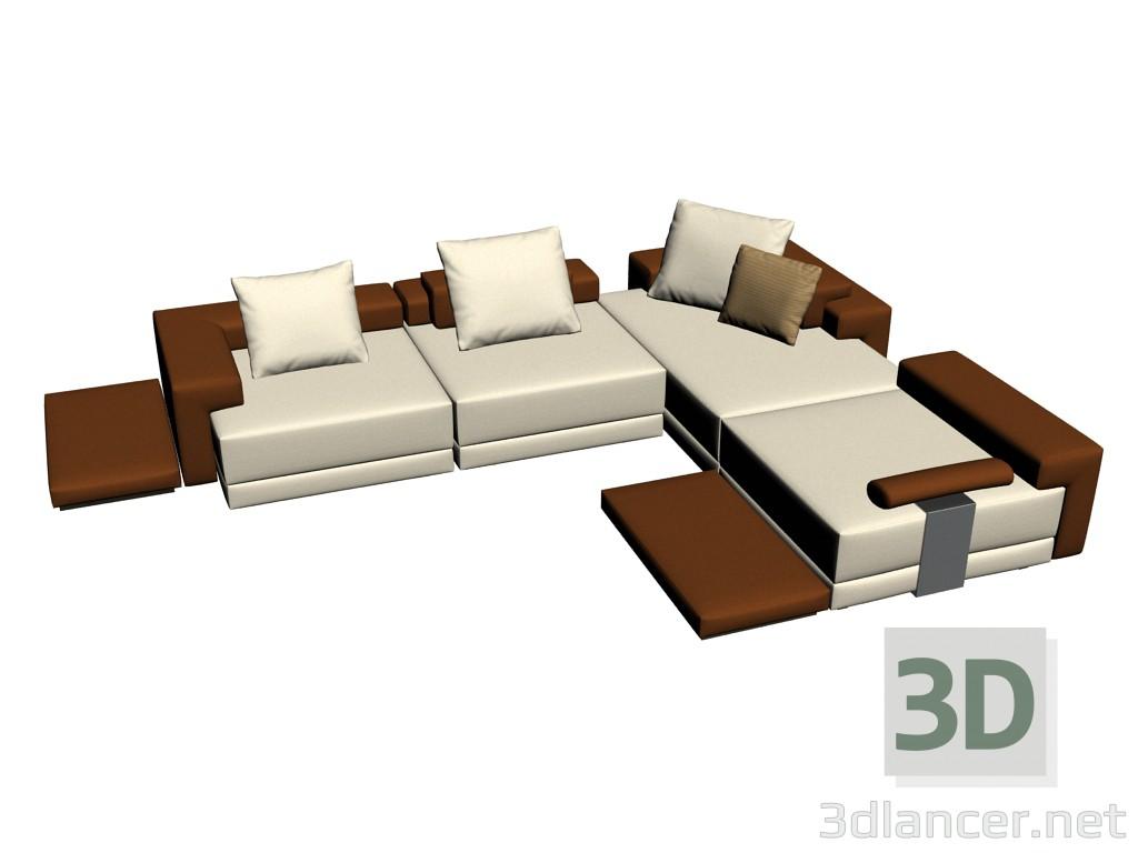 e9717dbf7aaf 3d model Sofa Domino composition 1 - preview