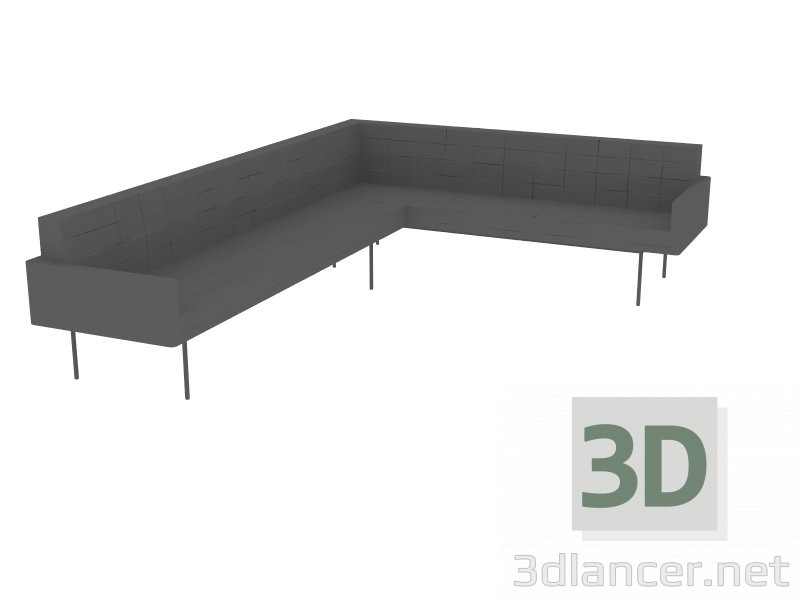 3d model sofa - vista previa