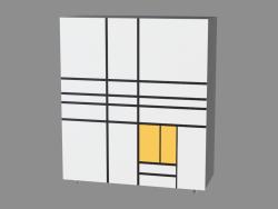 Комод Homage to Mondrian (РС19)