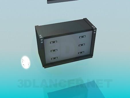 3d modeling TV and dresser model free download