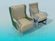 Chair and armchair complete