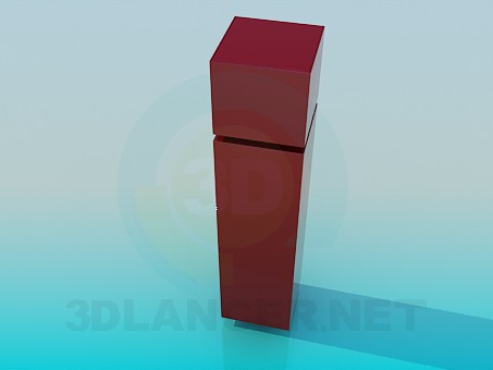 3d model Narrow bookcase - preview