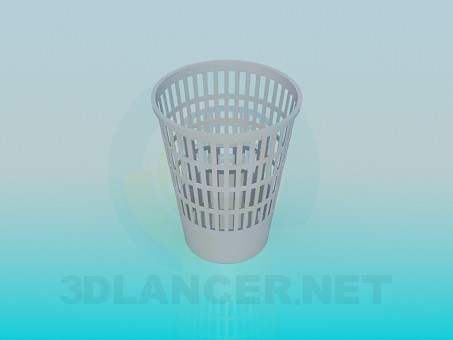 3d modeling Trashcan model free download