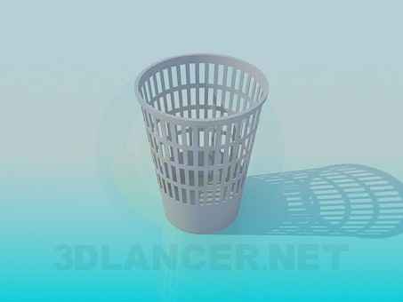 3d model Trashcan - preview