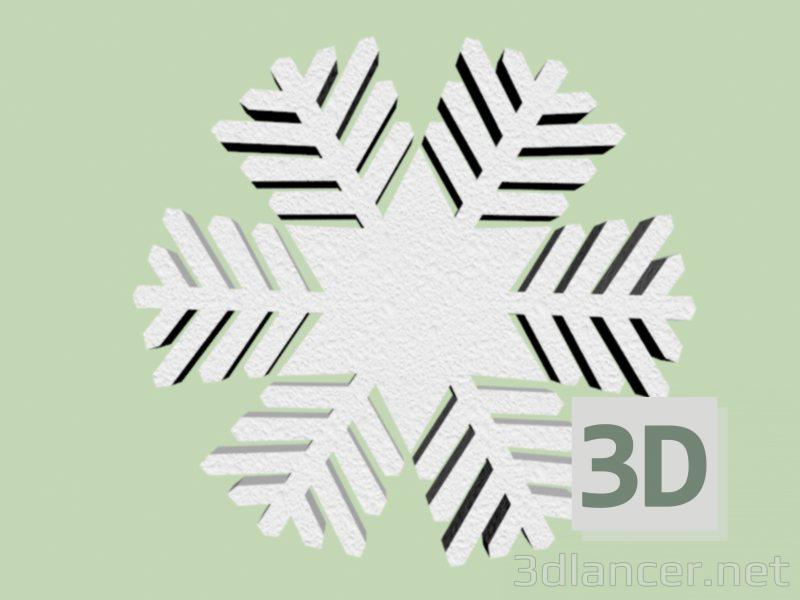 3d model Snowflake C-1 foam - preview