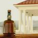 3d A bottle of good rum model buy - render