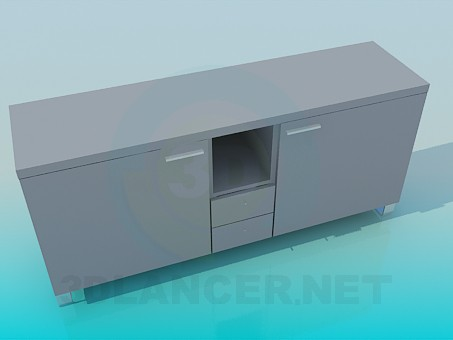 3d modeling Cabinet with doors and drawers model free download
