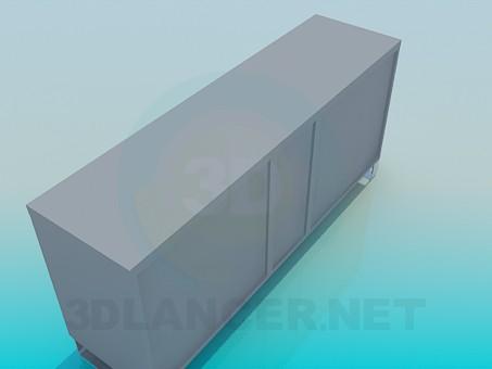 3d модель Тумба з дверцятами і висувними ящиками – превью