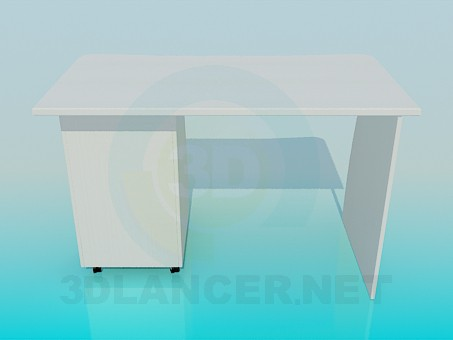 3d model Writing table - preview