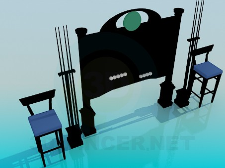 3d model Stand Billiards - preview