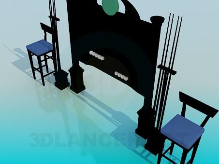 modelo 3D Soporte de billar - escuchar