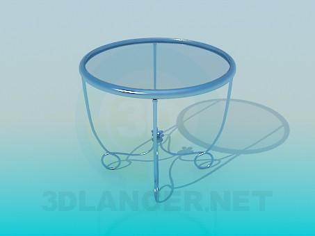 3d модель Стеклянный чайный столик – превью