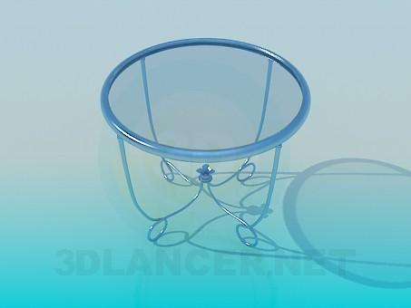 modelo 3D Mesa de té de vidrio - escuchar