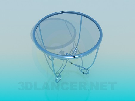 3d model Glass tea table - preview