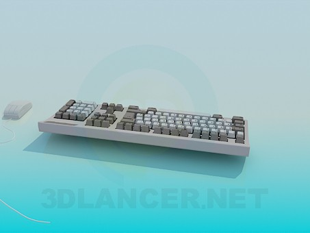 3d modeling Keyboard and mouse model free download