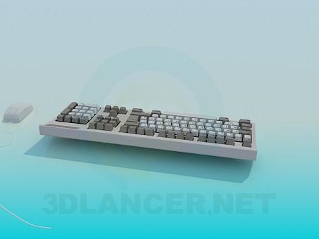 descarga gratuita de 3D modelado modelo Teclado y ratón