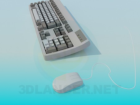 3d model Keyboard and mouse - preview