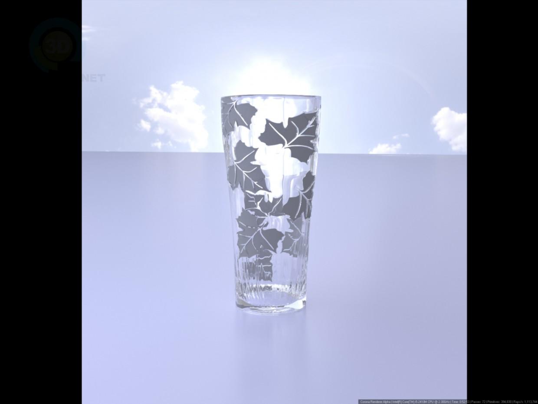 3d model Vase with leaf pattern - preview